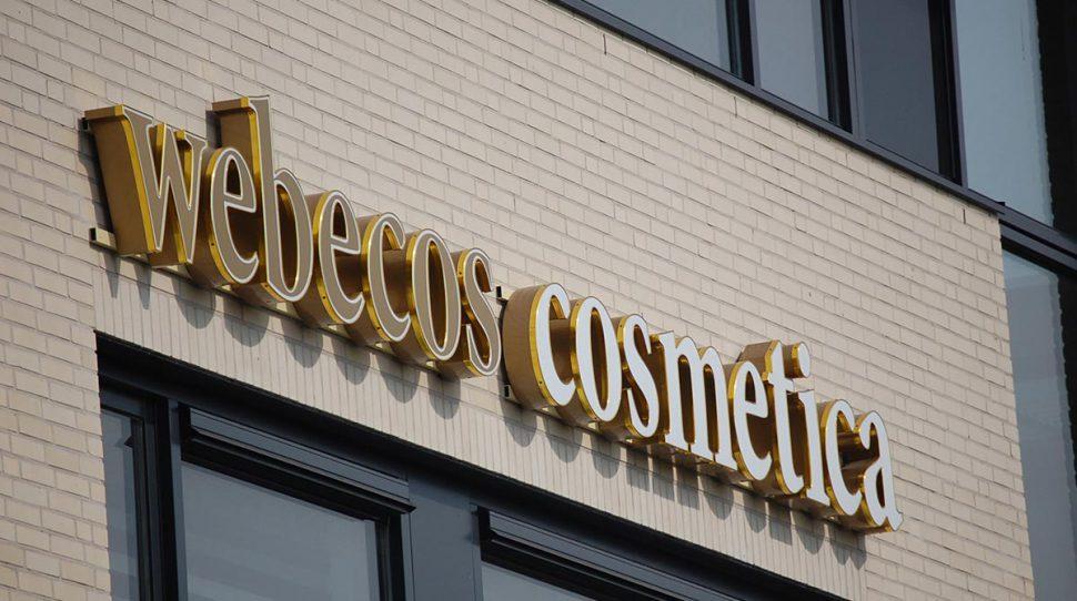 Belettering voor Webecos Cosmetica